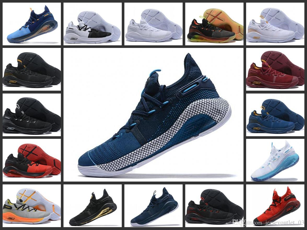 premium selection 54757 cabc1 Mens curry 6 basketball shoes new Fox Black Green Red Rage Christmas Blue  Stephen Currys vi sports sneakers boots