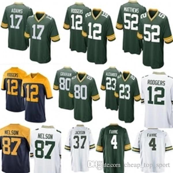 promo code f8d58 00c55 New Green Bay 17 Davante Adams Packers 23 Jaire Alexander Jersey Cheap 12  Aaron Rodgers 37 Josh Jackson 80 Jimmy Graham stitched Jerseys