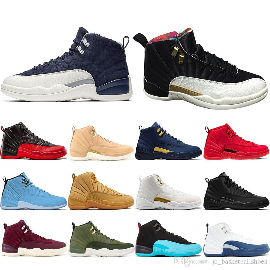 outlet store 7f31a 310ef Großhandel 2019 Neue 12 12 S Mens Basketball Schuhe CNY Chinese New Year  Michigan Wntr Gym Rot NYC Wolle XII Designer Schuhe Sport Sneakers Trainer  Von ...