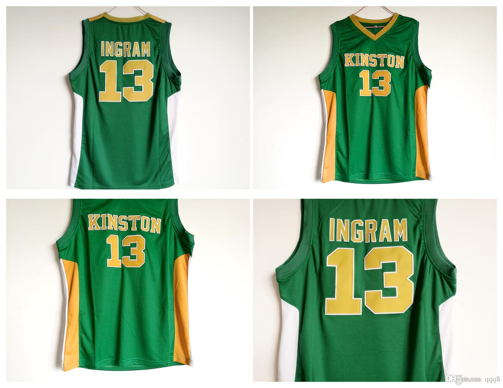wholesale dealer ee7fa 702d5 13 Brandon Ingram Jersey Kinston high school Jersey College Basketball  Jerseys Blue Stitched Sports Shirt Top Quality !