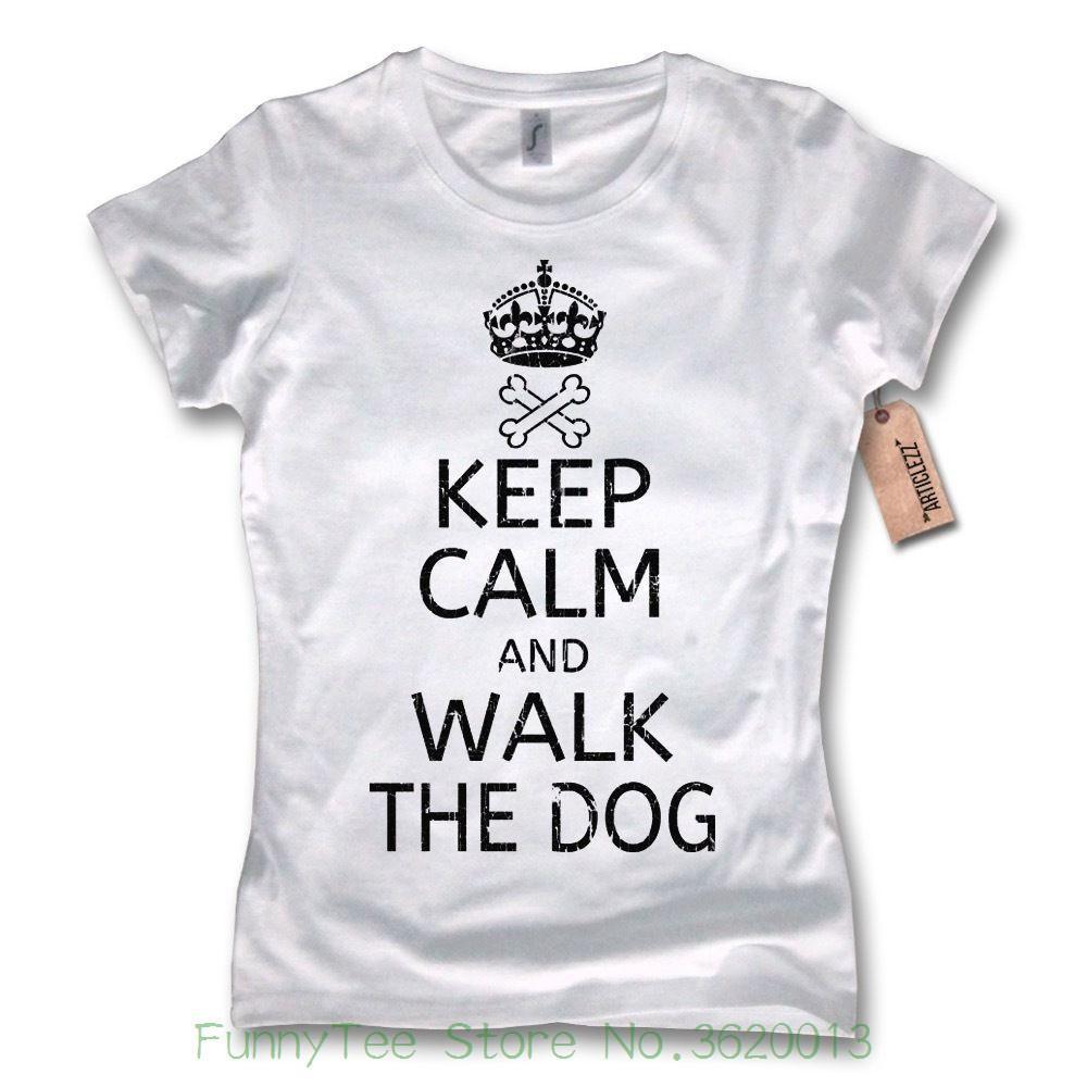 And Cane Camminata Women's Tee Calm The Maglietta Keep Donna Dog jL5A4R3q