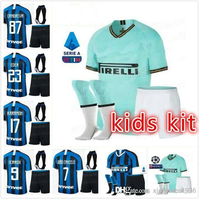 465f22add 2019 Kids Kit 20th Anniversary Edition JOVETIC ICARDI Jersey 19 20  PALACIOMEDEL CANDREVA SERIE A Inter