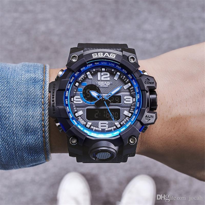 2ac6e11f97c Compre Design De Marca De Luxo Quente LED Assista Moda Multifuncional Vida  À Prova D  Água Relógio Para Homens Relógios Relógios Digitais Eletrônicos  ...