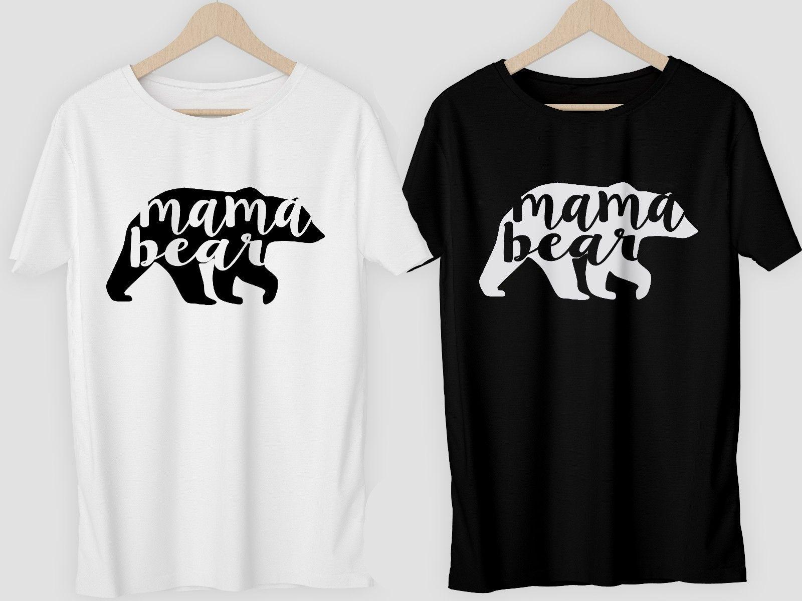 b3d80413 Mama Bear T Shirt or diy vinyl Top Gift Mother's Day womens unisex v-neck  Funny free shipping Unisex Casual