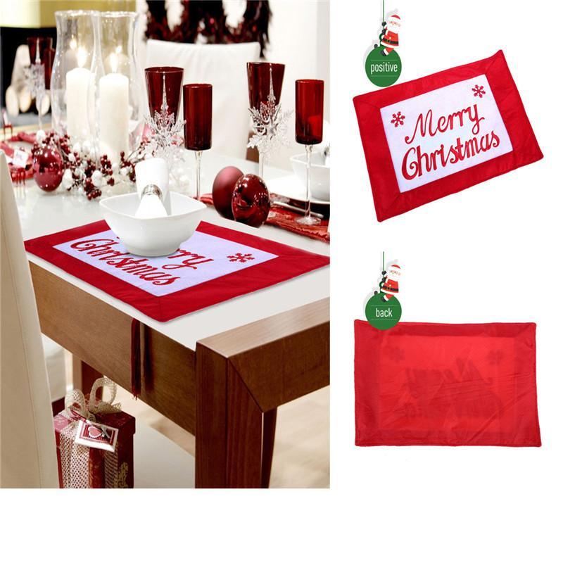 Decoración colgante de la Navidad para el hogar de la puerta de la botella de vino blanco ciervos Navidad de la cubierta decoraciones de cocina Mantel