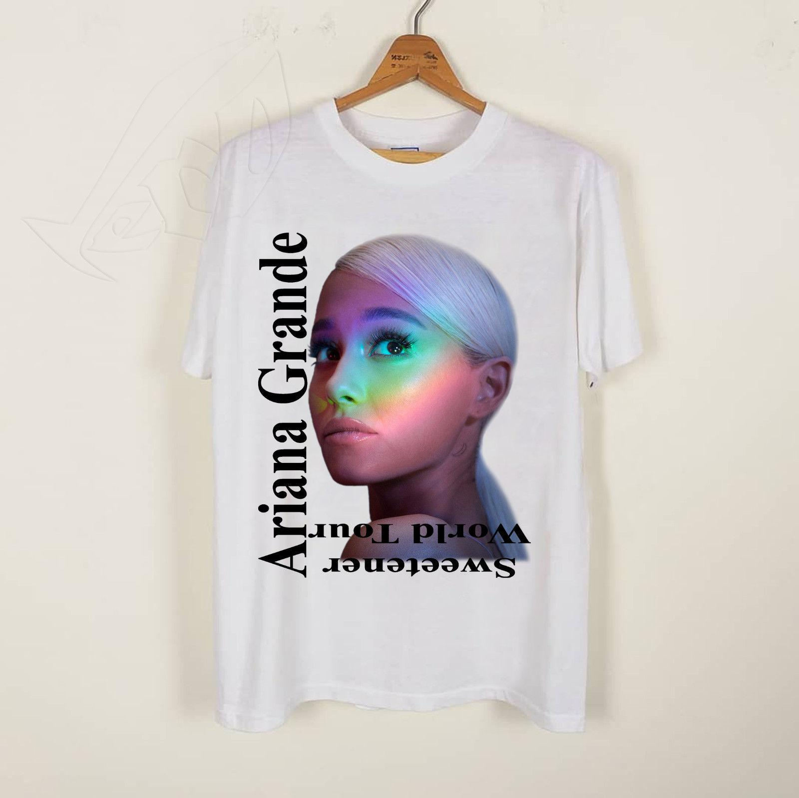 ce98d0a2 Ariana Grande Sweetener WordTour 2019 White T Shirt Size S 5XL Men Women  Unisex Fashion Tshirt Cool Tee Shirts Cheap Business Tee Shirts Printing  From ...