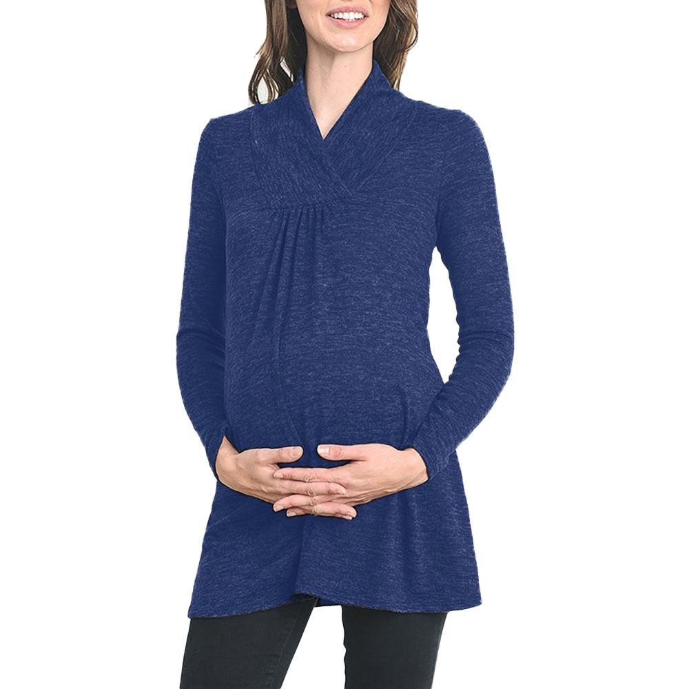 2345f30d364 2019 2019 Fashion Trend New High Quality Women S Loose Maternity Clothes Pregnant  Shirts Casual Long Sleeve V Neck Pregnancy Blouses From Sweet59