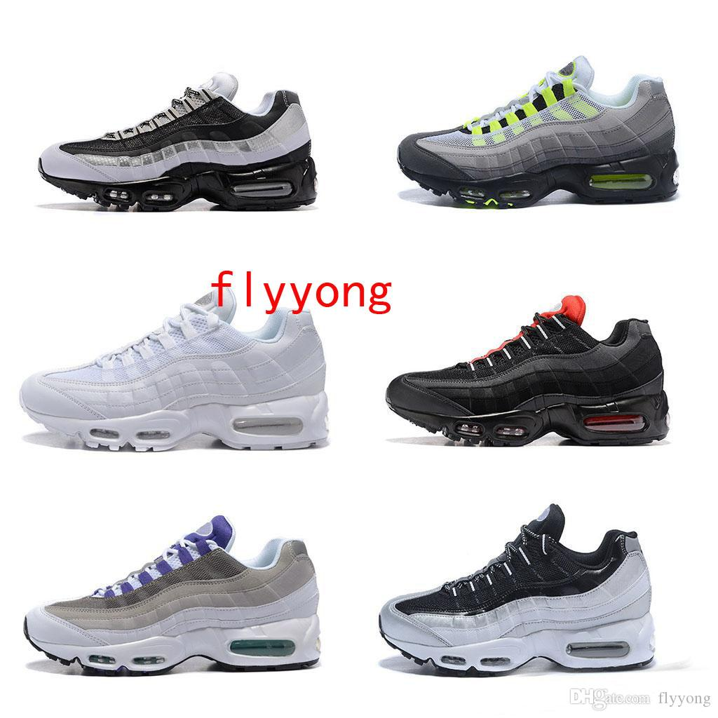 big sale e58f6 153d9 2019 Hot Sale 95 20th Anniversary Neon Mens Running Shoes Sports designer  95s Men Trainers Zapatos Sneakers chaussures