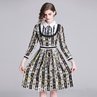 0190f2ba386ab 2019 Women S Print A Dresses