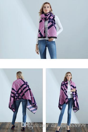 2019 Herren / Damen Winter neue klassische Plaid verdicken warme Kaschmir-Imitation Schal Quaste Schal 180 * 70CM