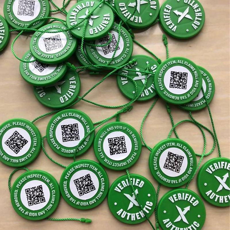 2019 Correct Stock X OG QR Code Sticker Green Circular Tag Plastic Shoe  Buckle StockX Verified X Authentic Green Tag