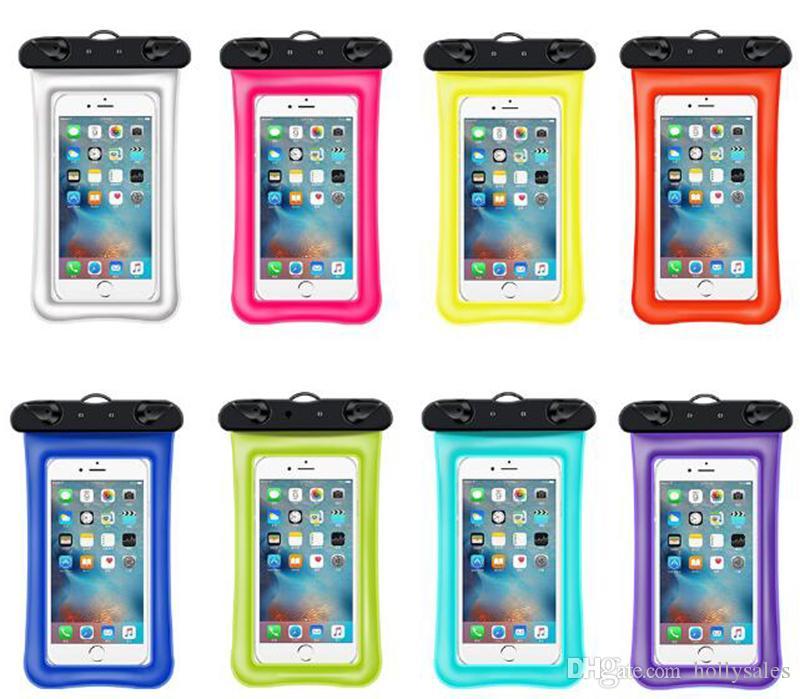 Universal Flotante Airbag Bolsa de natación impermeable Cubierta de la caja del teléfono móvil Bolsa seca Buceo Deriva Riving Bolsas de trekking para iphone xs max S10