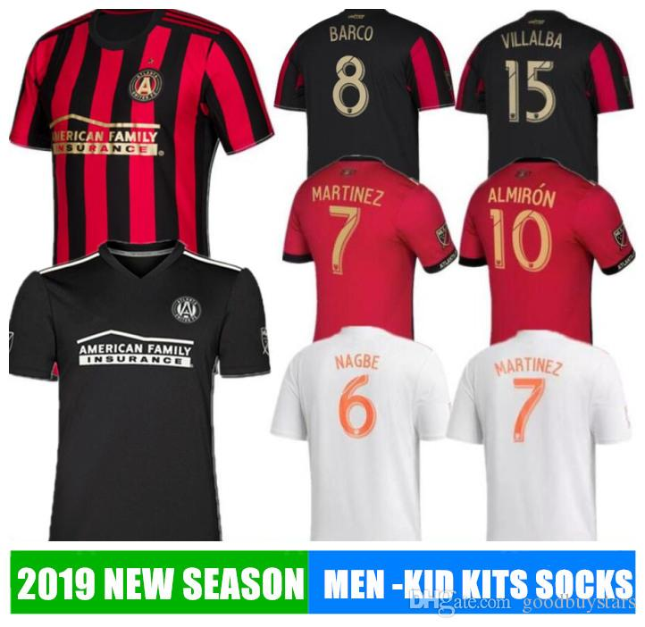 finest selection ef912 17d63 2019 20 Atlanta United soccer jersey 2018 GARZA JONES VILLALBA MCCANN  MARTINEZ ALMIRON FC BARCO football shirt hot calcio SR