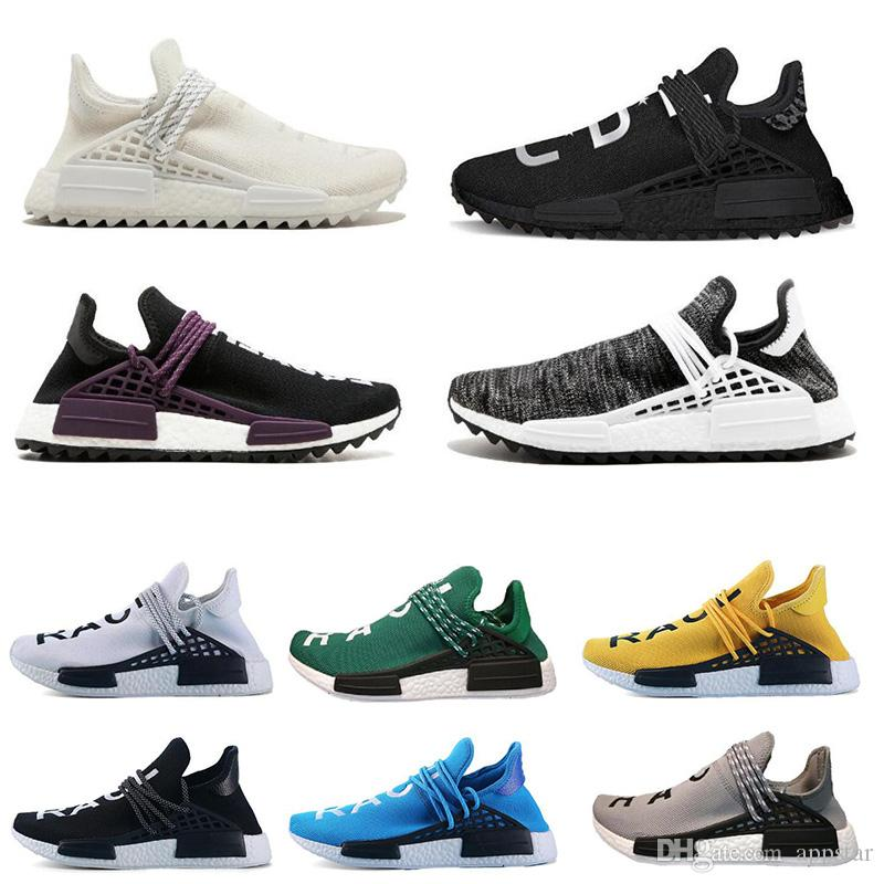 finest selection e9e81 371f4 Großhandel Hot Human Race Trail Laufschuhe Pharrell Williams Hu Läufer Nerd Schwarz  Gelb Weiß Damen Herren Sportschuhe Turnschuhe Größe 36 47 Von Appstar, ...