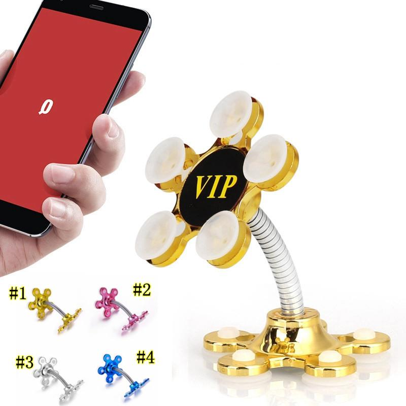 Sucker Stand Phone Holder 360 degree Rotatable Magic Suction Cup Mobile Phone Holder Car Bracket Smartphone Tablets Holder MMA2470