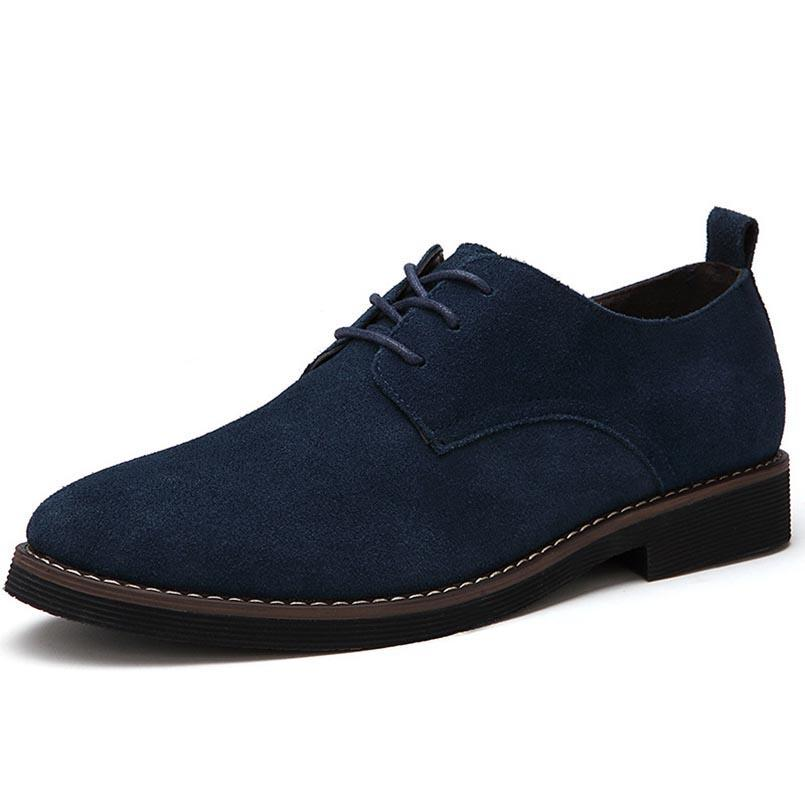 c369d872cd627 Acquista MINGPINSTYLE Faux Suede Mens Shoes Casual Large Taglie Fashion  2018 British Shoes Uomo Casual Classic Lace Up For Male A  49.98 Dal  Paradyse ...
