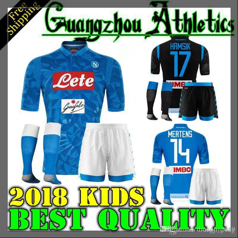 967a5399d 2019 18 19 Napoli Kids Soccer Jersey Home 2018 2019 Naples ZIELINSKI HAMSIK  INSIGNE MERTENS CALLEJON PLAYER ROG Football Shirts From Tomato 2019