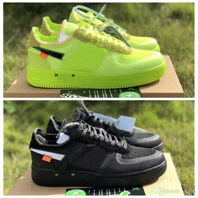 2019 New Arrivals Forces Volt Running Shoes Mulheres Mens Formadores Forçados One Sports Skateboard Clássico 1 Verde Branco Black Warrior Sneakers