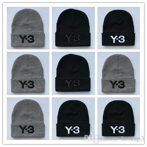 Good Quality Letter Y-3 Casual Beanies for Men Women Fashion Knitted ... b75635249e55