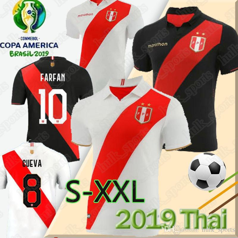 Thai 2019 peru copa america soccer jersey GUERRERO home away peru camiseta de fútbol CUEVA maillot de foot CARRILLO men top football jersey