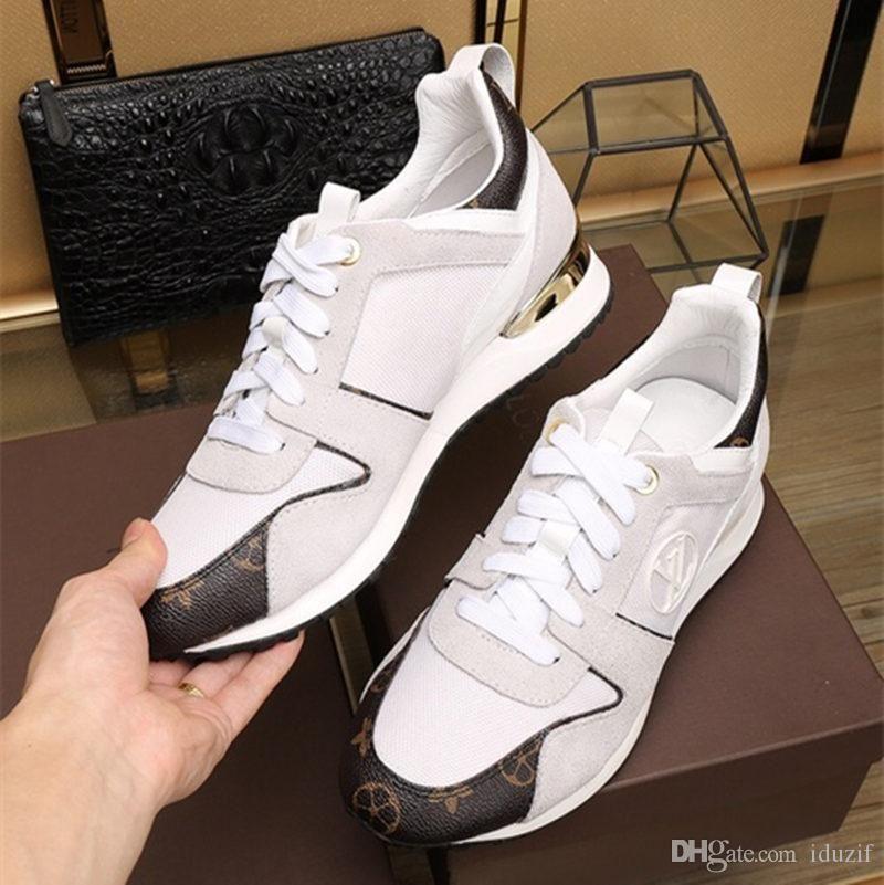 TOP Marke Leder Damen Designer Sneakers Herren Läufer Schuhe Mode Freizeit Fahren Schuhe ALLE schwarzen Skateboard