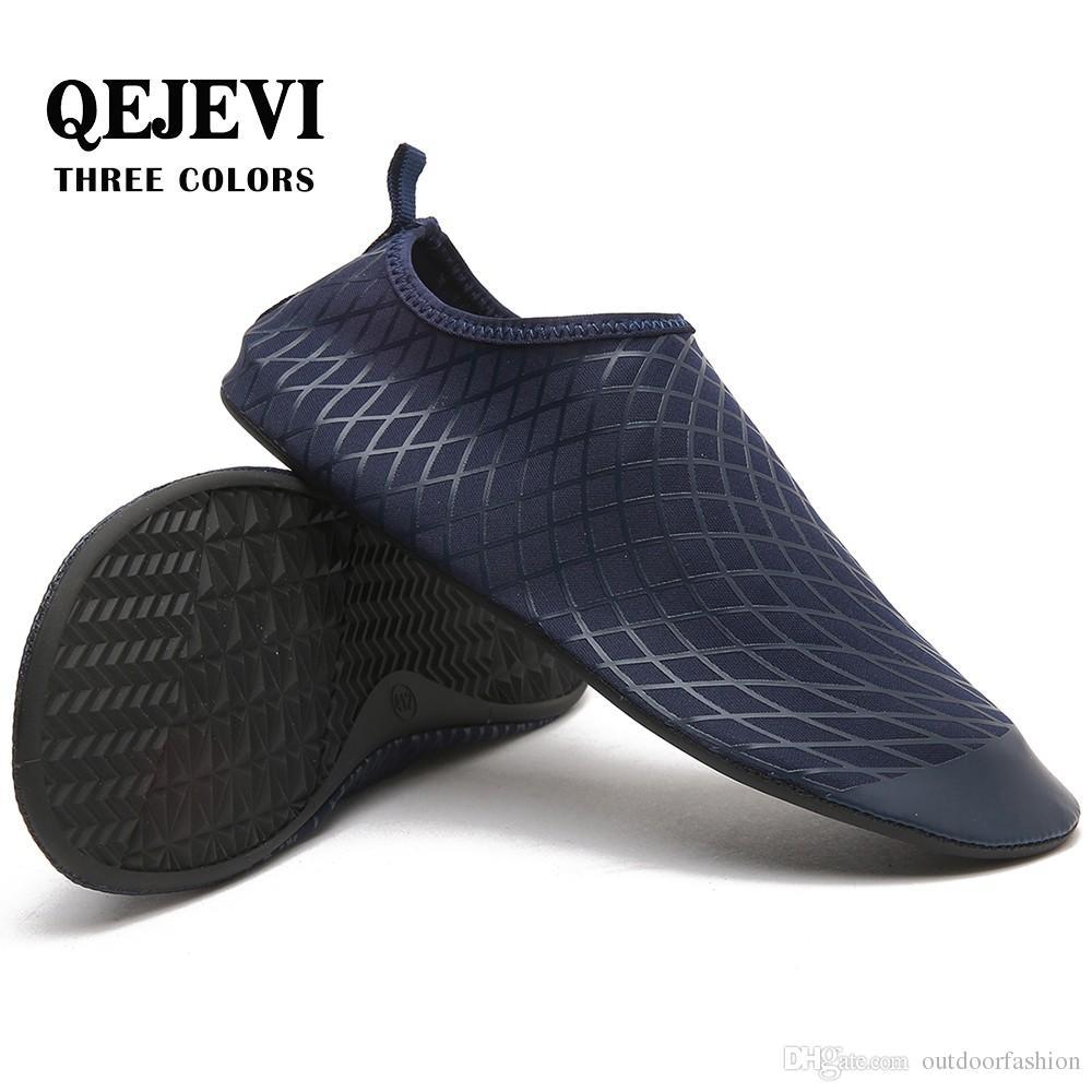 Compre QEJEVI 2019 Hombres Mujeres Zapatos Para Surfear Con Agua Descalza  Zapatos De Secado Rápido Aguas Arriba Piscina De La Piscina Nadar Bañarse  ... 60bbaa2b434