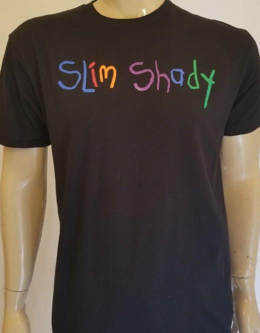 Men Unisex Black Slim T Shirt Shady Rad God Print Colorful Eminem l135uJcTFK