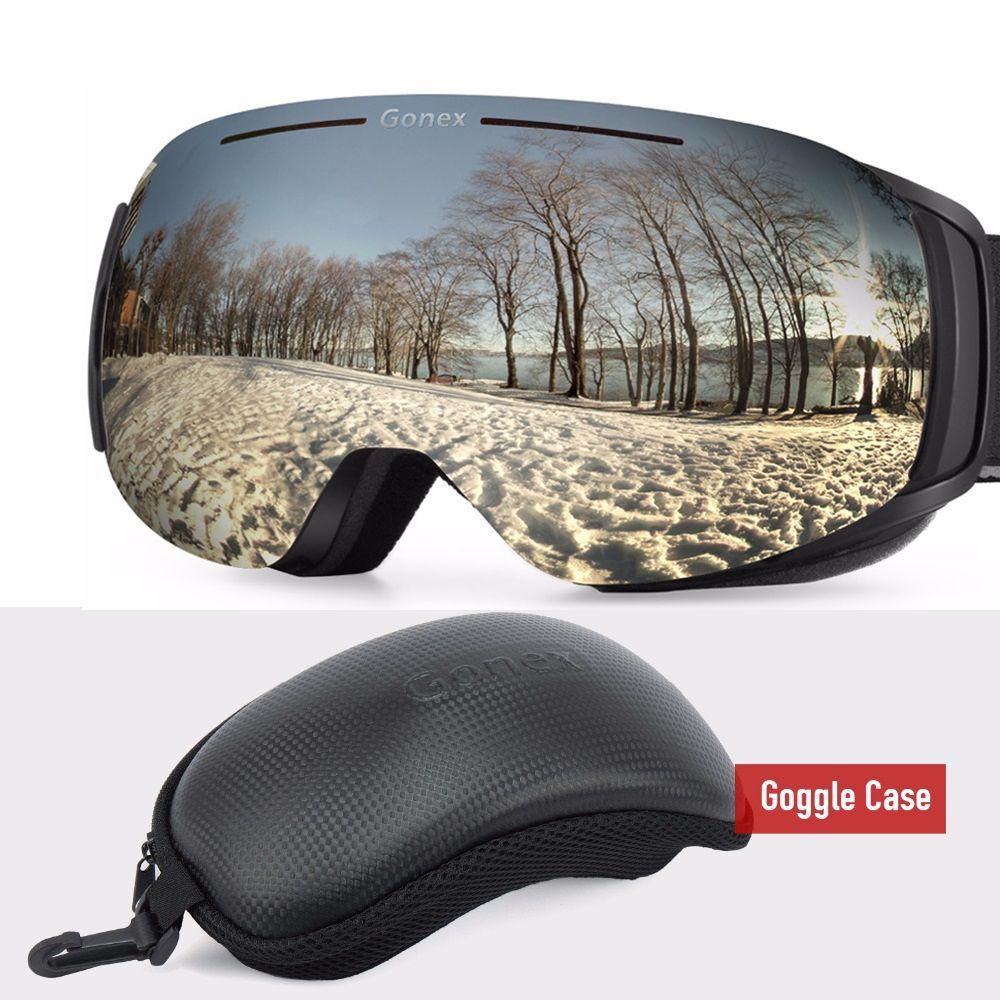 bc7b71b44467 2019 Gonex Magnetic OTG Ski Goggles Snowboard Skiing Eyewear Glasses Men  Women UV400 Protection Anti Fog Interchangeable Lens + Case From Sportsun