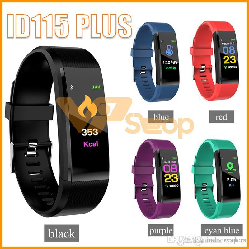 ID115 Plus Smart Armband Fitness Tracker Smart Watch Herzfrequenz-Armband Smart Wristband Für Apple Android-Handys Fitbit