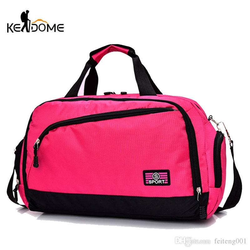 Gym Bags Men Sports Fitness Pack Cylinder Shoulder Sport Bag Women's Handbags Travel Bags Nylon Waterproof Handbag Package XA17D #644996
