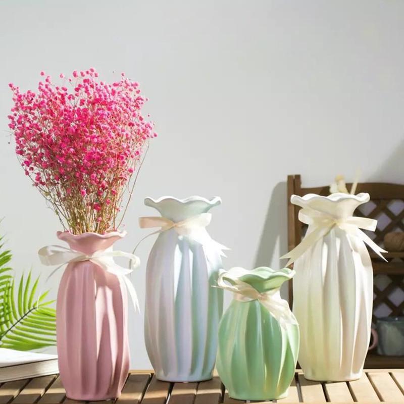 DHgate.com & Ceramic vase home decoration Fashion Modern Flower Vase creative living Room tabletop flower for home Wedding Decoration