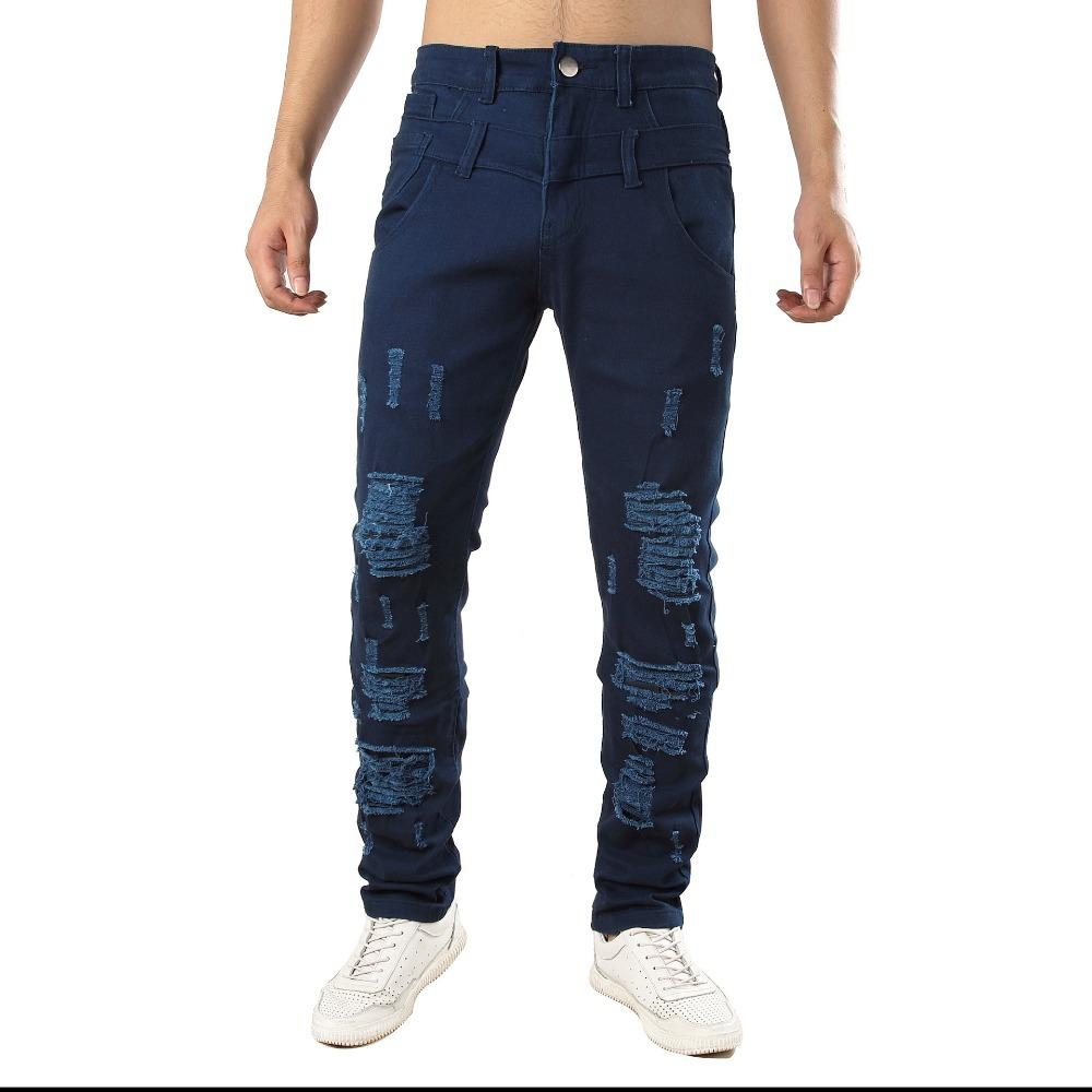 d90f8a8a18c8 Ripped Jeans for Men Skinny Distressed Slim New Brand Hole Jeans Men ...