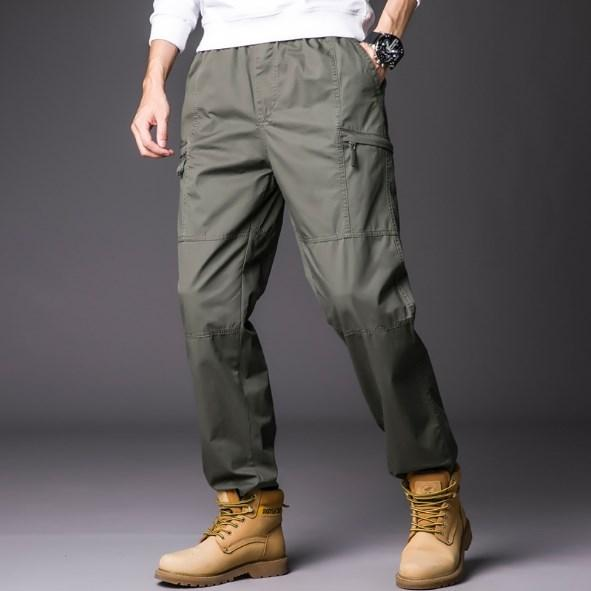 Mens Cargo Pants with 6 Pockets Streetwear Casual Pants Plus Size Camouflage Long Men Hip Hop Trouser Joggers 5XL