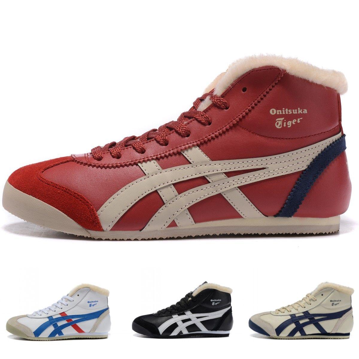 buy online d2087 eb6b9 Asics Onitsuka Tiger Designer Schuhe Mens Womens Hohe Wärme Athletic Schuhe  Asics Classic Professional Laufschuhe Größe 36-44