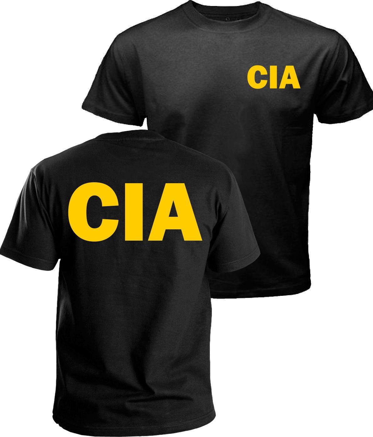 CIA Tshirt Government Agent T-shirt Secret Service Police FBI Men Tops  Printed Tee