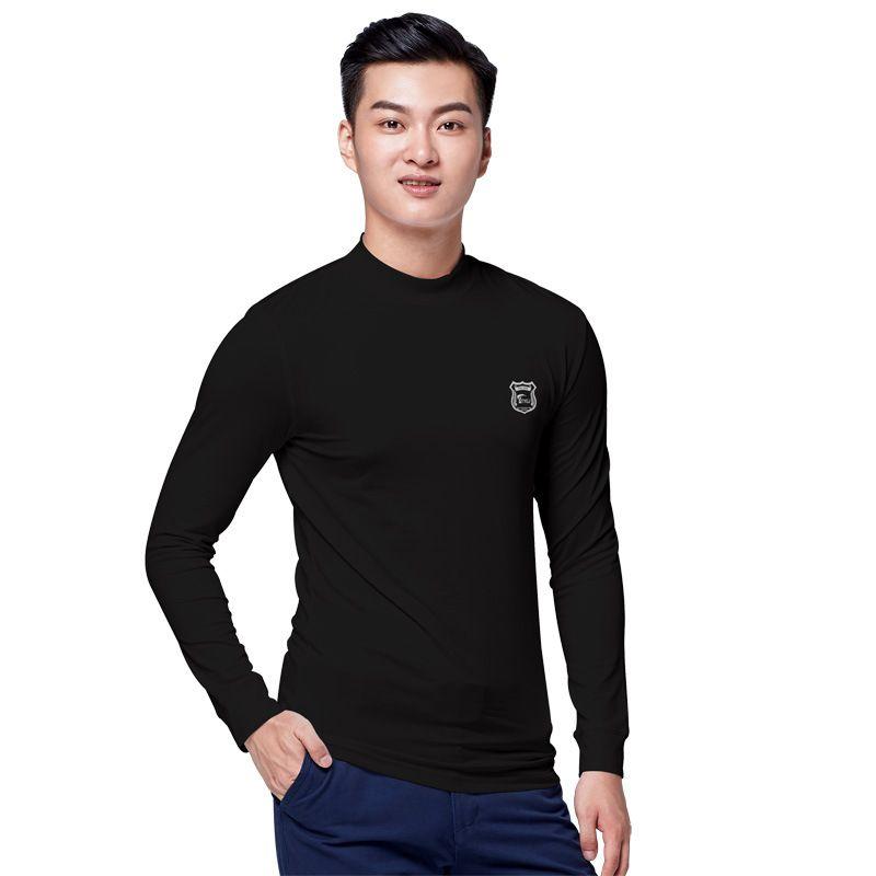 a50138ecd Men Golf Shirts Warm Fleece Bottom Underwear Shirt Man Long Sleeved Stand  Collar Comfort Golf Apparel High Quality D0661 Golf Shirts Cheap Golf Shirts  Men ...