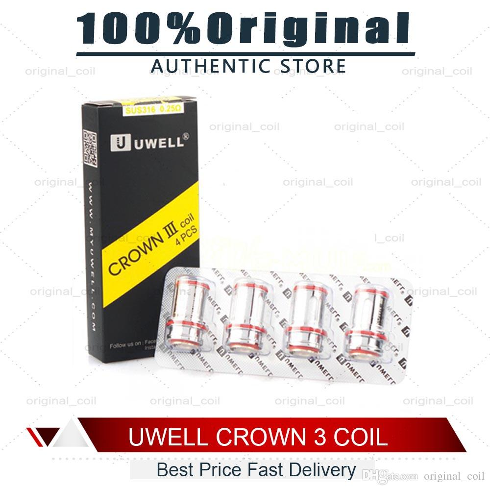 Authentic Uwell Crown 3 Crown III Mini Coil 0 25ohm 0 4ohm 0 5ohm  Replacement SUS316 Parallel Coils Head For Crown III Tank