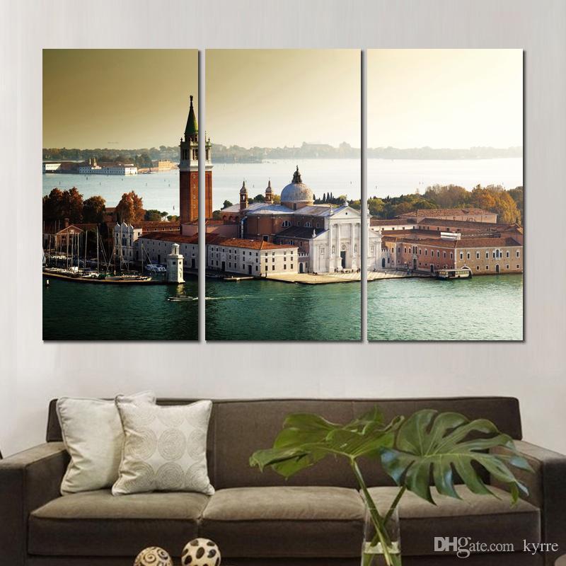 HD canvas prints church san giorgio maggiore venice unframed Painting for wall decor fine art