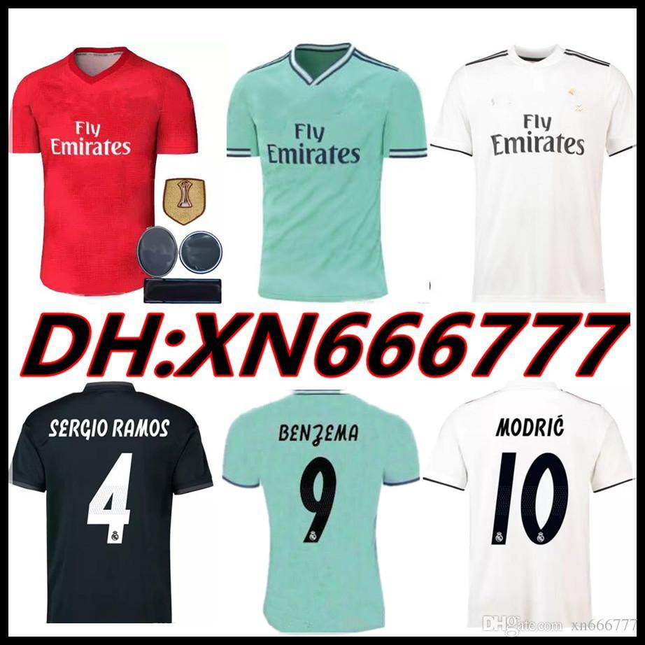fe6bd7cfa71fe Compre Real Madrid 2019 2020 RAMOS BENZEMA VINICIUS JR ASENSIO Longe Camisa  De Futebol BALE ISCO Futbol Camisa 18 19 20 Camisa De Futebol Kit Maillot  De ...
