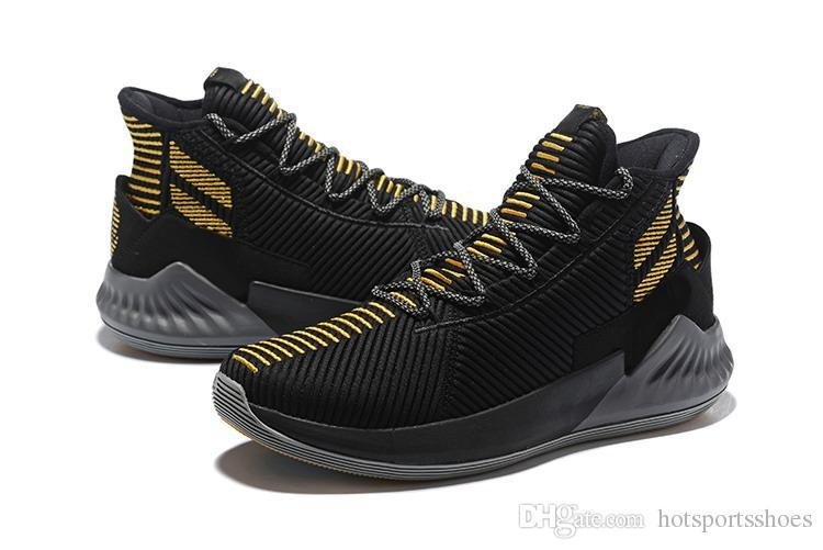 the latest 6758b 4e43c Compre D Rose 9 Negro Zapatos De Oro Para La Venta De Calidad Superior Nuevos  Derrick Rose Baloncesto Tienda De Envío Gratuito US7 US12 A 60.92 Del ...