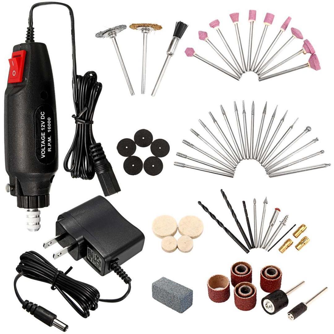 DIY Nail Tools Kit 60Pcs Rotary Tool Set Multi Precision Polishing Drill  Grinder Machine Accessories Nail Art Equipment