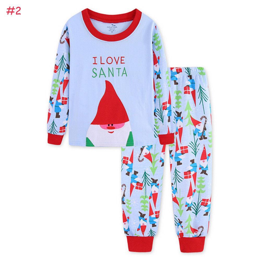 2b81e2d7438a3 Acheter 2018 Multitrust Marque De Noël Nouveau Né Bébé Enfants De Noël Père  Noël Vêtements De Nuit Pyjamas Ensemble Automne Hiver Ensemble Vêtements De  Nuit ...