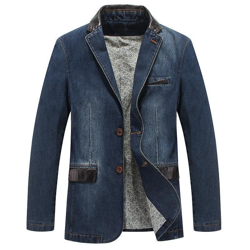 Nice Pop Mens Fashion Denim Jacket Casual Long 000% Cotton Male Jeans Coat Autumn Spring High Quality Windbreakers M-4xl