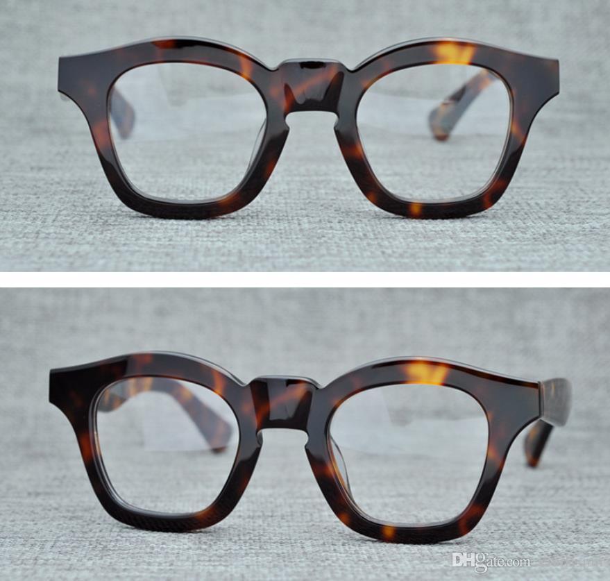 c25add5eb9fe 2019 Men Optical Glasses Frames Brand Spectacle Frames Vintage Round  Glasses Frames For Women The Mask Handmade Myopia Eyeglasses With Case From  Emilyqun