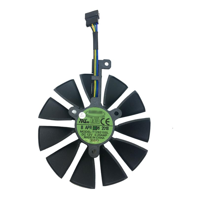 88mm T129215SL Cooling Fan For ASUS ROG-STRIX-RTX-2070-O8G-GAMING 5Pin  Graphics Card Cooler Fan