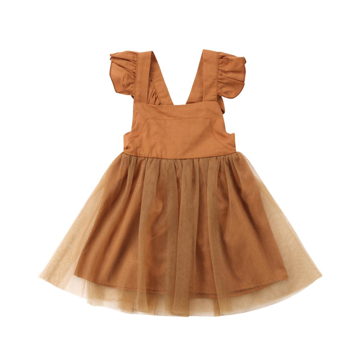 Baby Girl Kids Clothes Toddler Backless Dress Sleeveless Tutu Summer Outfit Tops