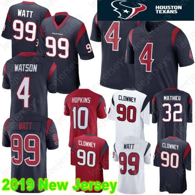 new arrival 40e3c bf86a 87 Demaryius Thomas Houston 4 Deshaun Watson Texans Jersey 99 J.J. Watt 10  DeAndre Hopkins 90 Jadeveon Clowney 32 Tyrann Mathieu