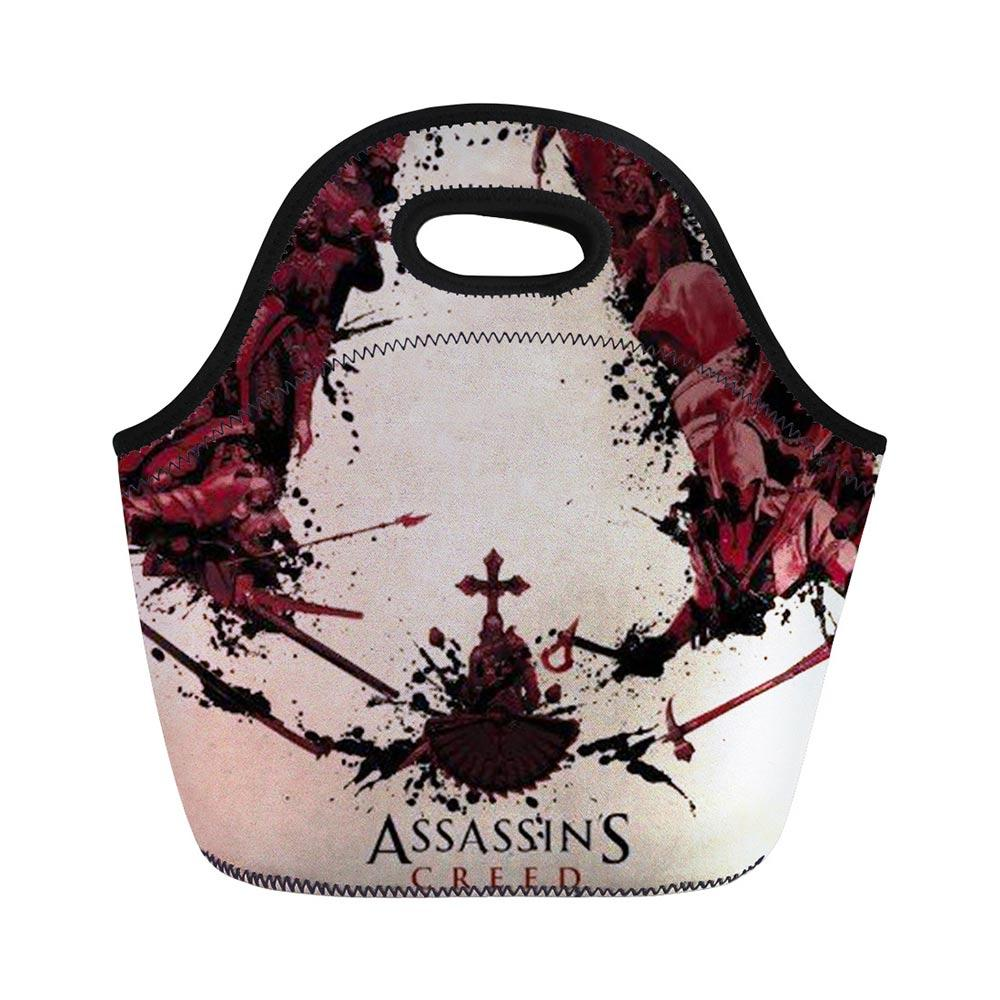 4def4d459753 Assassins Creed Action Figure Students Picnic Case Insulated Custom Lunch  Bag for School Thermo Picnic Thermal Lunch Box Retail