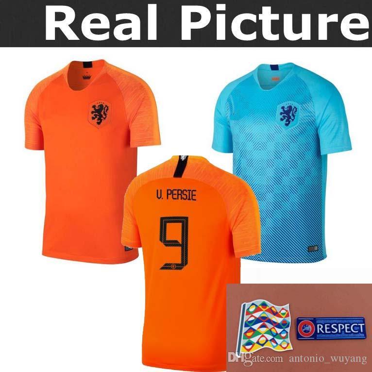 ... best 2019 thai quality 2018 holland soccer jersey home orange netherlands  national team jersey memphis sneijder b9e7f6605