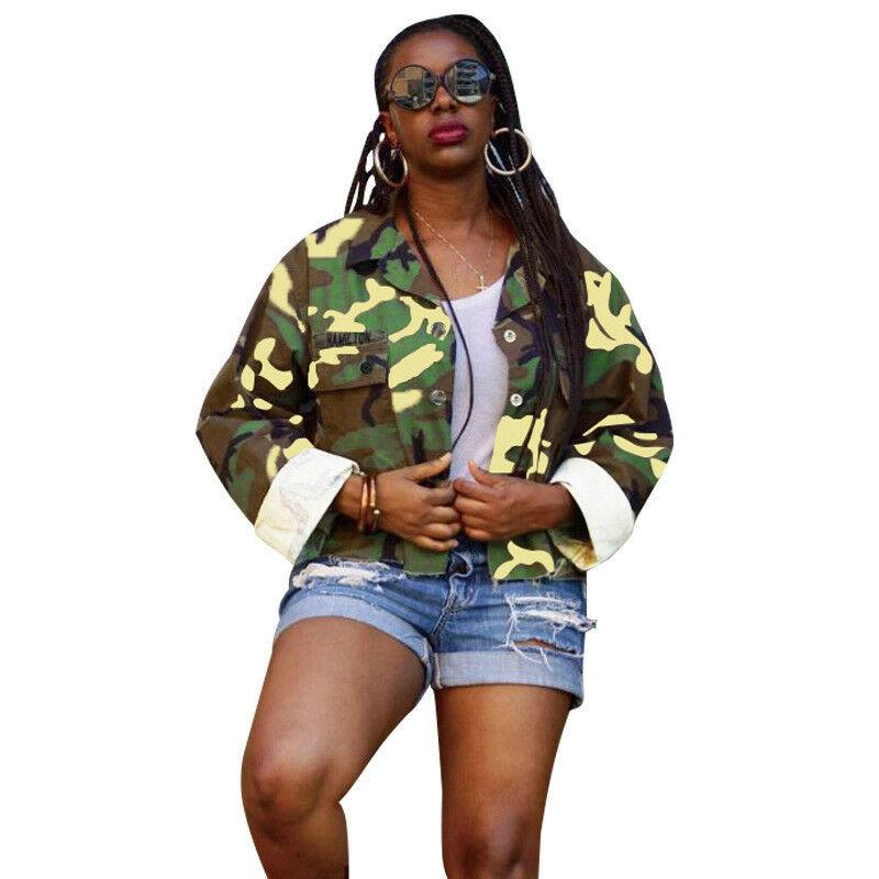 583a7eff1cba7 Loose Sleeve Womens Coat Blouse Plus Long Punk Camouflage Size Rock Hip Hop  Long Sleeve Blouse Coat Loose Punk Rock Plus Size Hooded Jacket Tweed  Jackets ...